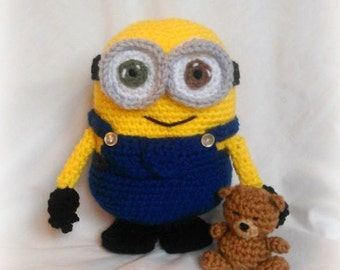 Free Crochet Pattern For Bob The Minion : Crochet minion Etsy