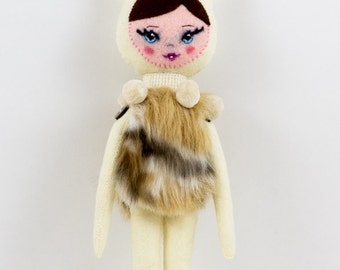 Fauna Hand Sewn Felt OOAK Doll