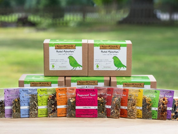 HERBAL TEA SAMPLER loose leaf tea gift set mom gifts perfect