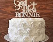 Baptism Cake Topper - Christening Cake Topper - Baptism Gift - Custom Cake Topper - First Communion Cake Topper - Christenings