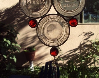 Orange Canning Jar Lid Suncatcher