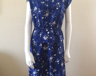 TEN DOLLAR SALE peplum floral dress