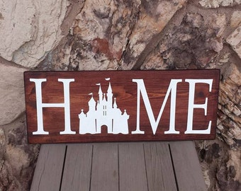 Disney Home Sign Disney Sign Home Decor Handmade Wooden Sign Rustic