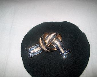 Vintage Costume Jewelry Signed Joan Rivers Brooch Pin, Rhinestones, WAS 48.00 - 25% = 36.00