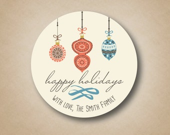 Christmas Gift Stickers Holiday Gift Tags Christmas Gift Tags Holiday Gift Labels Happy Holidays Cream Boho Hipster Ornaments Sweater Print