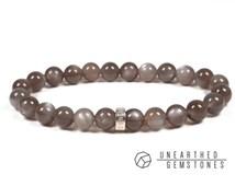 Black Moonstone Bracelet - Stretch Bracelet, Gemstone Beaded Bracelet, Black Bracelet, Mens Bracelet, Moonstone Jewelry, Birthstone Bracelet