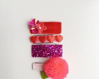 Valentine's Hair clip set