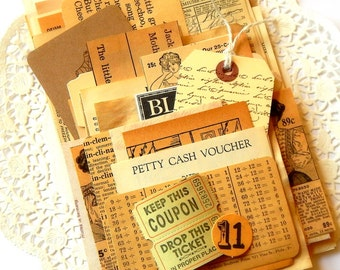 Neutral Ephemera Pack. Vintage Ephemera. Junk Journal Supply. Mixed Media. Scrapbook Supply. Embellishment Kit. Vintage Paper Pack. Collage.