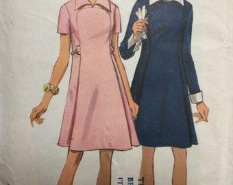 Sewing Pattern - Dress Pattern - Vintage Sewing Pattern 8406, Retro Dress Pattern -  1960s Pattern, Size 14, Bust 36, Cut