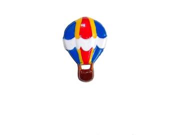Hot Air Balloon Brooch Pin - Picnic Whimsical Adventure