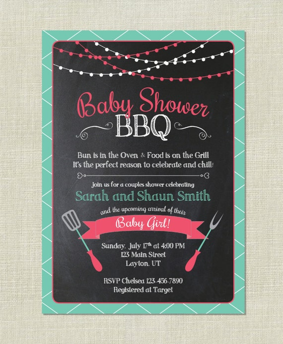 Couples Bbq Baby Shower: BBQ Baby Shower / Barbeque Babies / Couple Cook Out Grilling