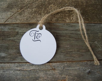 Rustic Gift Tags | Set Of 5 | Birthday Gift Tag | Wedding Gift Tag | Shower Gift Tag | Simple Gift Tag | Kraft or White Cardstock Gift Tags