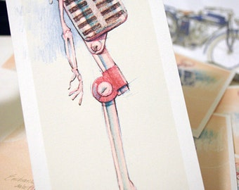 Mike Bones the Microphone Limited Edition Print