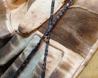 Hand Forged Hair Sticks / Hair Spikes