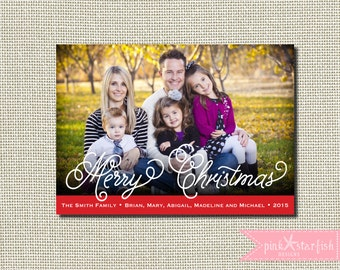 Christmas Card, Holiday Card, Simple Christmas Card, Photo Christmas Card, Merry Christmas, Holiday Christmas Card, Photo