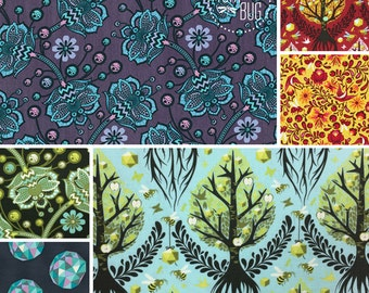 The Birds and the Bees by Tula Pink for Free Spirit ~ Fat Quarter or Half Yard BUNDLE ~ Timeless Reprint