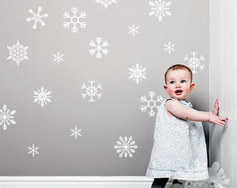 Snowflake Wall Decal / Large Snowflake Sticker / Christmas wall Decals / Custom Decorations / Kids wall decal / holiday decoration / gift