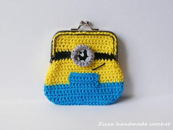 Crochet Minion Bag Pattern : Crochet Minion coin purse PDF pattern