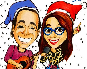 Christmas caricature from your photo