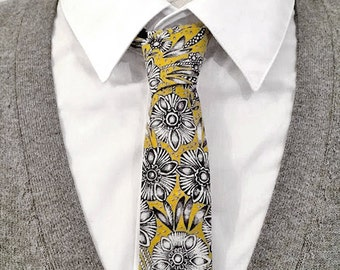 Yellow tie flowers.