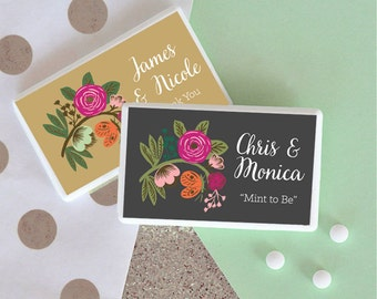 Mint to Be Wedding Favor - Mint to Be Bridal Shower Favor - Wedding Mint Favors - Mint to Be Favor Mint to Be Mints Pack (EB2211MP) - 12 pcs