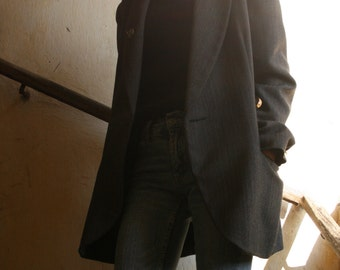 FREE shipping fees-French woolen double-breasted blazer TEENFLO PARIS