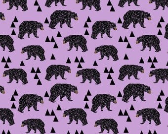 Boppy Cover Purple Triangle Bear. Nursing Pillow. Boppy Pillow Cover. Boppy Slipcover.