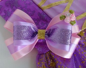 Rapunzel Inspired Hair Bow, Purple Hair Bow, Rapunzel Bow