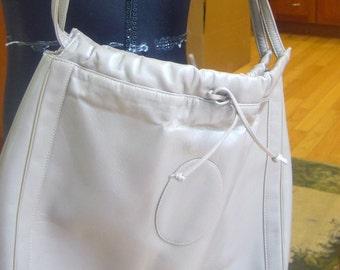 Vintage, Susan Gail Original, Taupe, Leather Hobo Purse, Handbag.