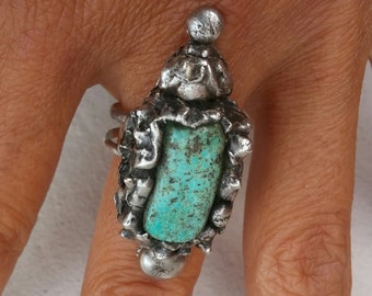 Turquoise Ring~One of a Kind Jewelry~Ethnic Fashions