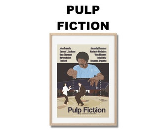 Pulp Fiction Movie Print - Poster Quentin Tarantino A3