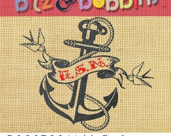 Navy Tattoo Old School - Digital Embroidery Design