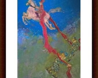 Freedom. Art Illustration. Print Poster