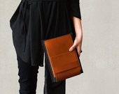 iPad Mini case /kindle Oasis 2/ kindle Oasis/ kindle Voyage/ kindle Paperwhite/ carry-all slim case tan leather dark grey merino wool felt