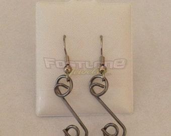Dzus Button Spring Hardware Dangle Earrings- Racing Jewelry by Fastlane Jewelry