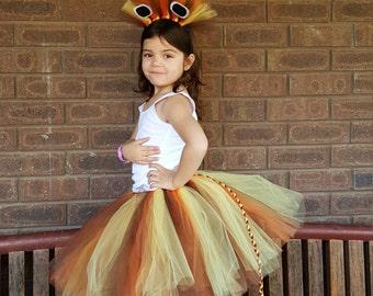 Lion Tutu Skirt  matching Headband  - 1st Birthday Tutu- Newborn Tutu, Photo Prop, Tutus for Children