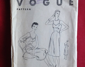 Vintage 1950s Vogue sewing pattern for slip, petticoat,