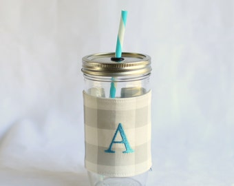 Personalized Tumbler Cup | Personalized Tumbler | Gray Buffalo Plaid | Tumbler Cup With Straw | Gray Tumbler