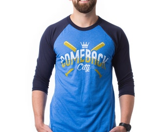 Kansas City T Shirt - Comeback City - 3/4 Sleeve T-Shirt - Local Pride KC Shirt