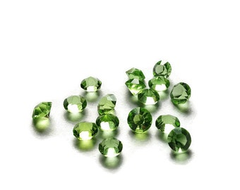 August Birthstone Crystal Floating Charm for Floating Lockets-Peridot-Light Green-4mm-Gift Ideas