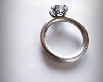 Ring measures 16/17 in Silver 925 with cubic zirconian
