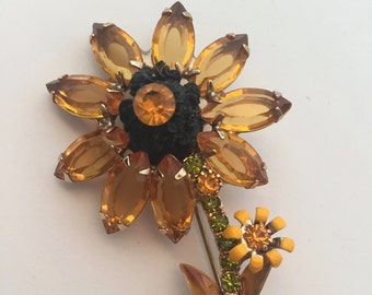 Black-Eyed Susan Brooch