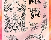 """Clear Stamp Set """"Child of God 1"""" - perfect to use for Bible Journaling, Bible Artjournal, Faith Journal, Cardmaking etc. - Faith"""