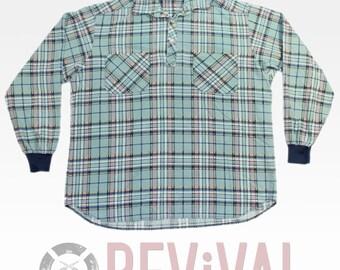 Vintage Plaid Flannel Shirt ~ Size XL-XXL