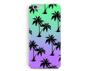 Palm Tree Phone Case, Palm Tree iPhone 5 case, iPhone 5 Case, Sunset iPhone Case, iPhone 5S Covers, Tropical iPhone Case, Gradient 5s Case