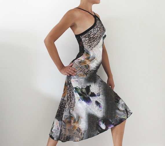 tango kleid kleid f r abschlussball abend milonga kleid mit. Black Bedroom Furniture Sets. Home Design Ideas