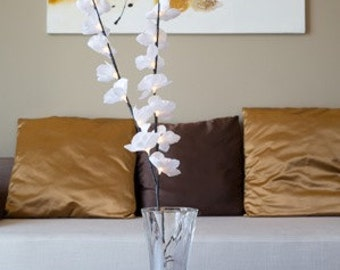 LED White Orchid Branch B-8009
