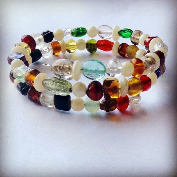 Beaded Wire Wrap Bracelet from Stink N Cute Creations