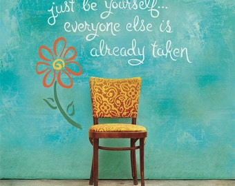 Be Yourself Inspirational Plaque