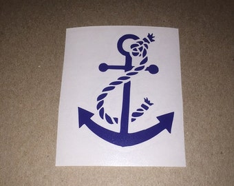 Boat Anchor vinyl Decal sticker FREE SHIPPING